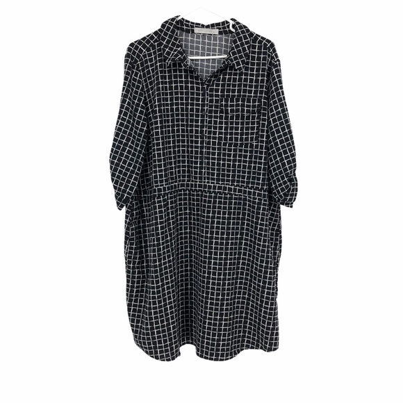 Suzy Shier business casual checkered dress 2X